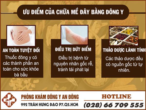 uu diem chua benh me day bang dong y
