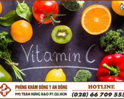 bo sung vitamin c - cach tri viem bang quang tai nha